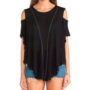 Free People We The Free Linen Cold Shoulder Top S